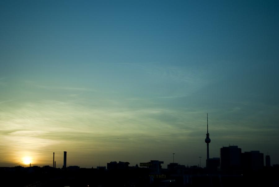 Atardecer Warscheurbruecke Berlín