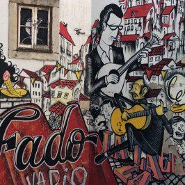 Mural dedicado al fado en Travesa da Madalena, Mouraria.