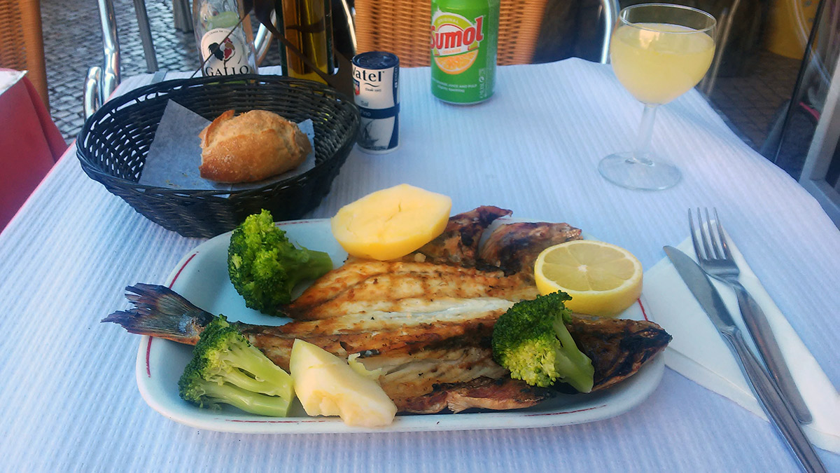 Así de bien se come en Lisboa.