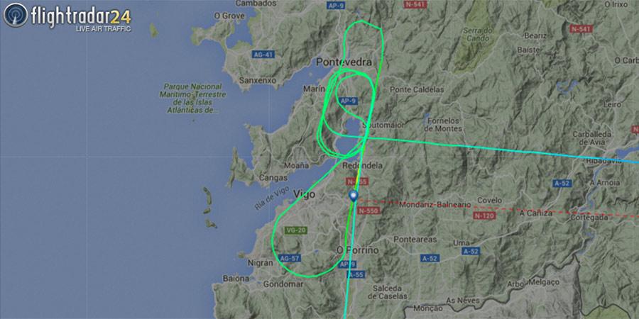 Ryanair desviado en Vigo