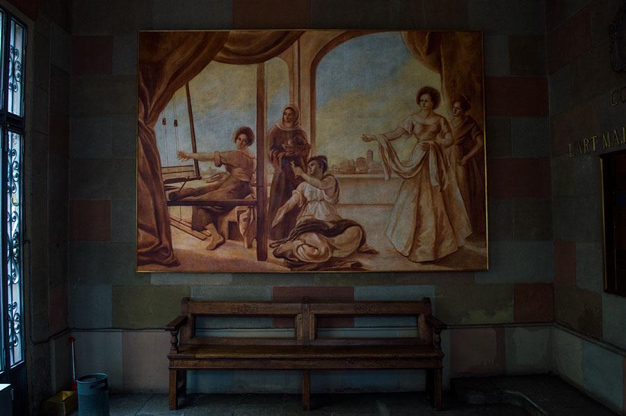 Pinturas en la casa de la Seda de Barcelona