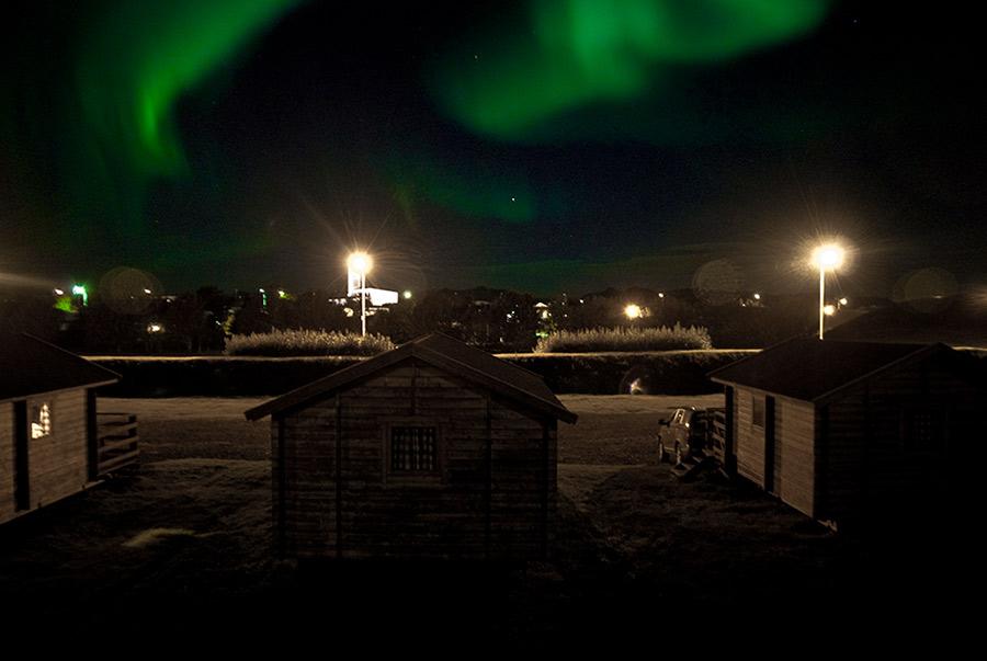 Auroras boreales en Höfn, Islandia