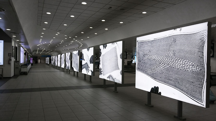 sala de llegadas aeropuerto Turin
