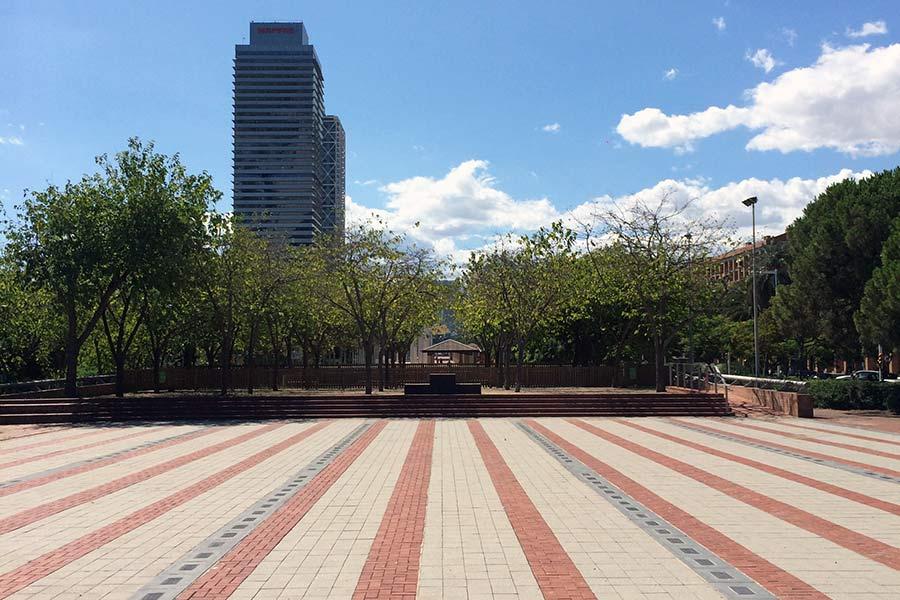 Plaza de los Campeones en Barcelona