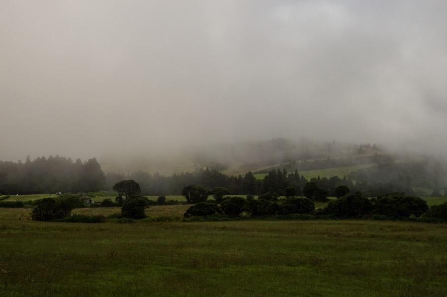 Niebla en San Miguel, Azores