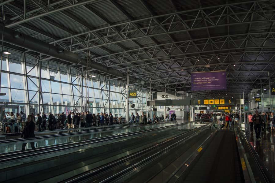 Pasillos del aeropuerto de Bruselas