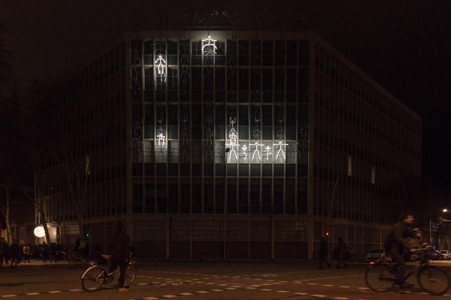 El edificio SIMON en Llum Barcelona 2018