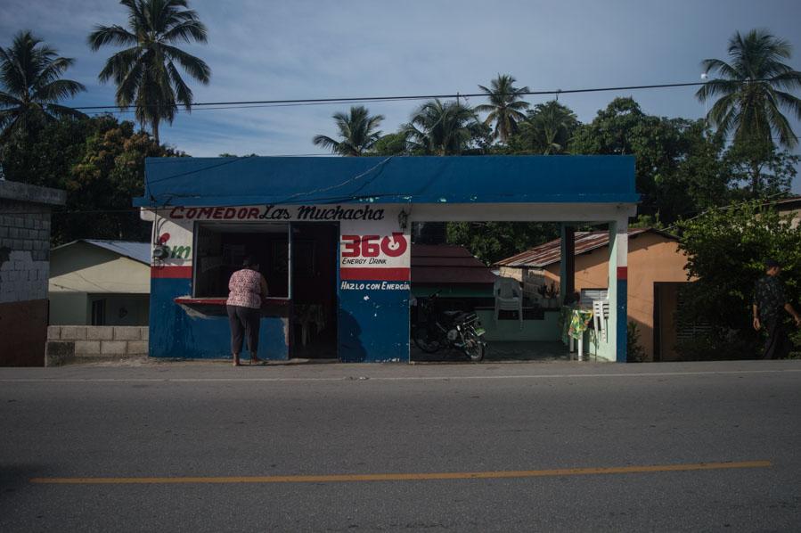 Puesto de comidas en República Dominicana