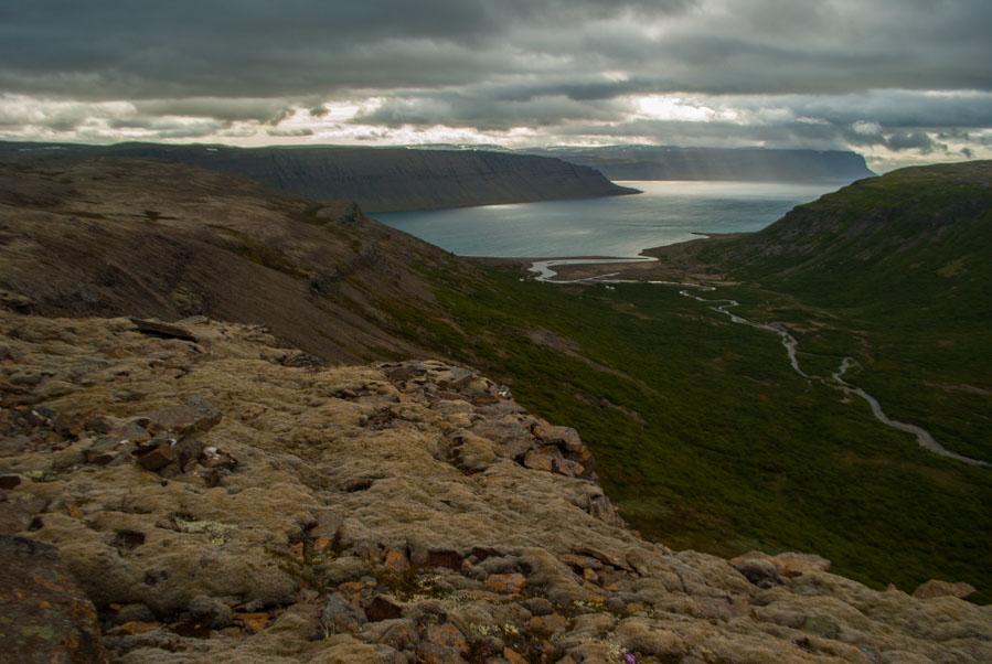 La espectacular vista en la carretera de Bíldudalsvegur