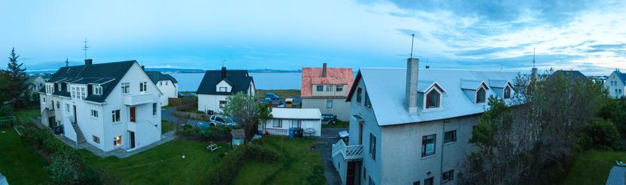 Sol de medianoche en Reykjavik, Islandia