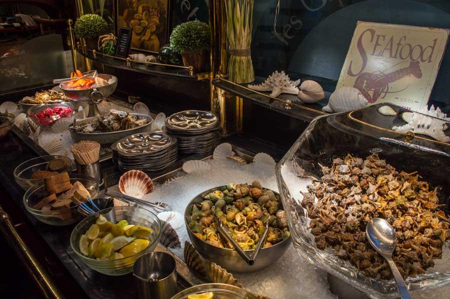La selección de mariscos de Les Grands Buffets.