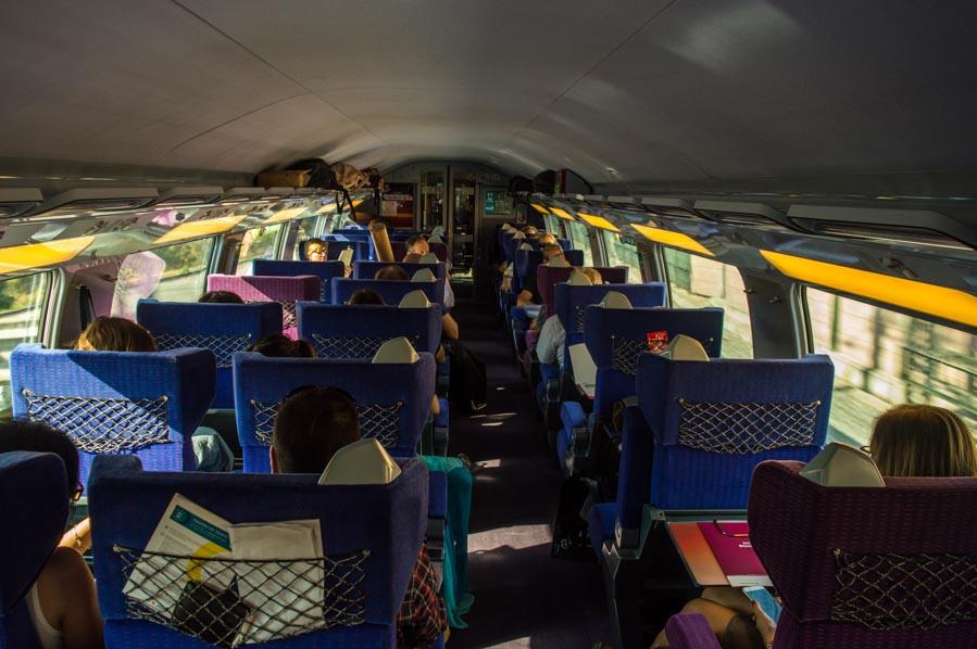 Piso superior de un TGV Duplex