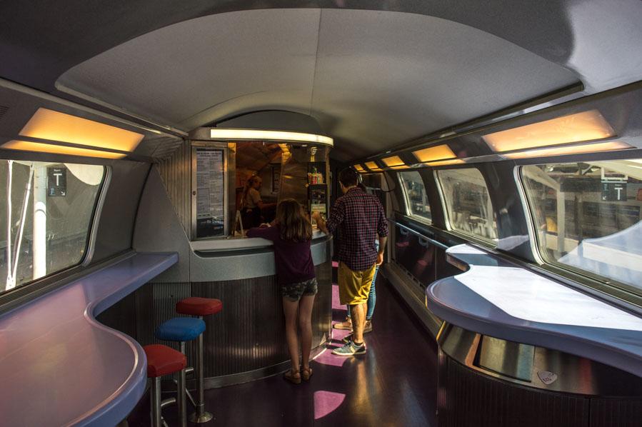 vagón cafetería de los trenes Renfe-SNCF