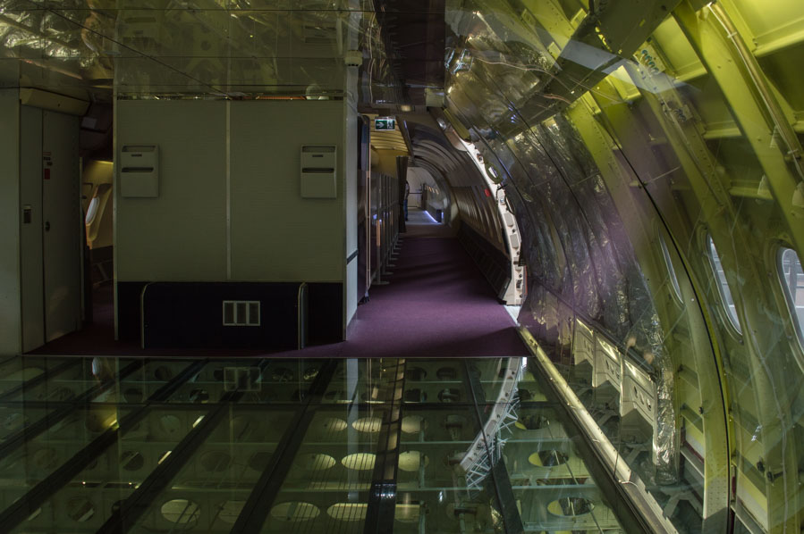 Visitar el interior de un avión en Aeroscopia, toulouse