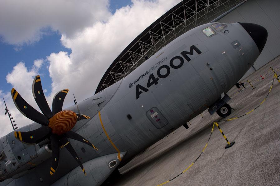 Una explicación sobre el A400M en tu visita a la fabrica de Airbus.