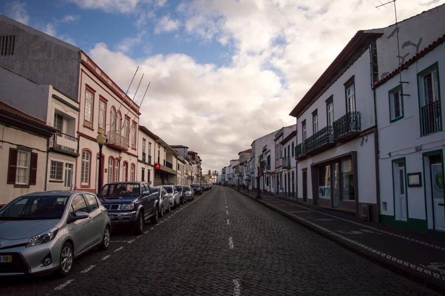 Centro de Vila do Porto, en Santa María, Azores.