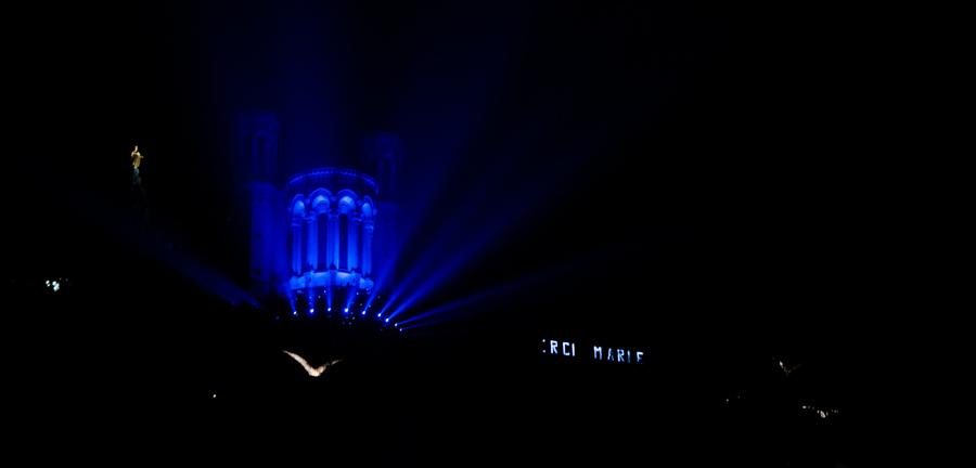 Fourvière en Fête des Lumières en Lyon