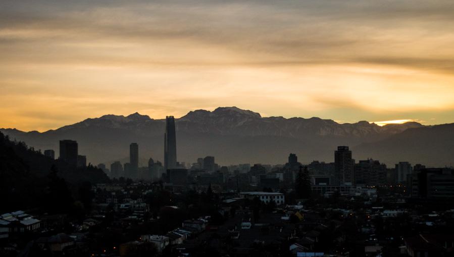Atardecer en Santiago de Chile