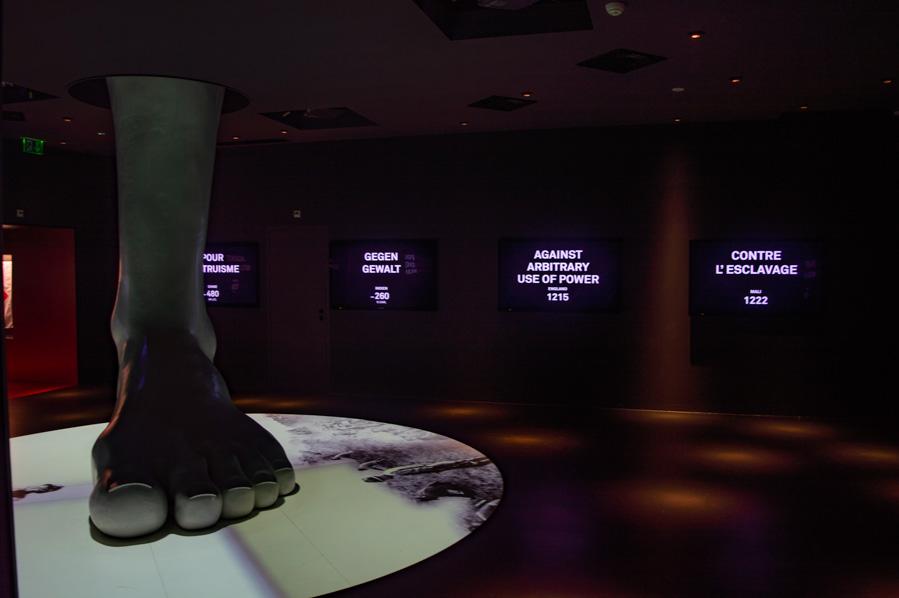 sala dedicada al respeto a la vida e integridad humana