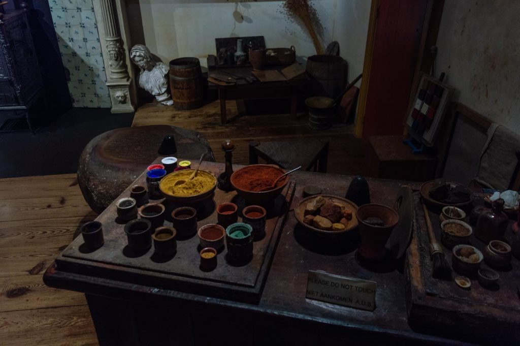 Recreaciones de los talleres de Rembrandt en su Casa Museo