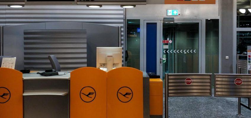 Mostradores de Lufthansa en Fráncfort