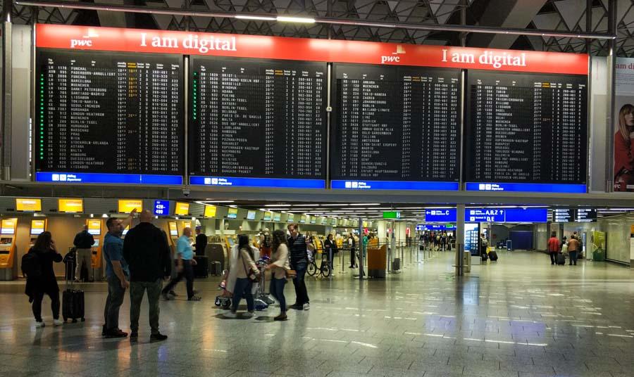 Terminal principal del aeropuerto de Fráncfort