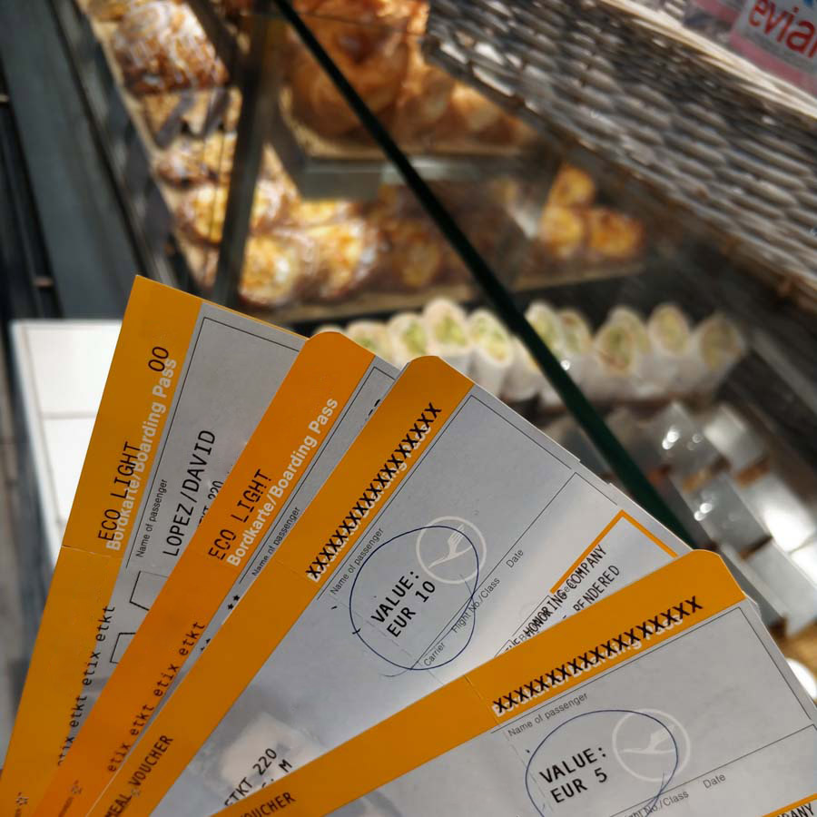 Bonos de comida de Lufthansa