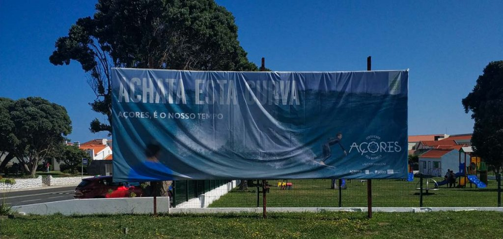 publicidad de turismo de las azores durante el COVID19