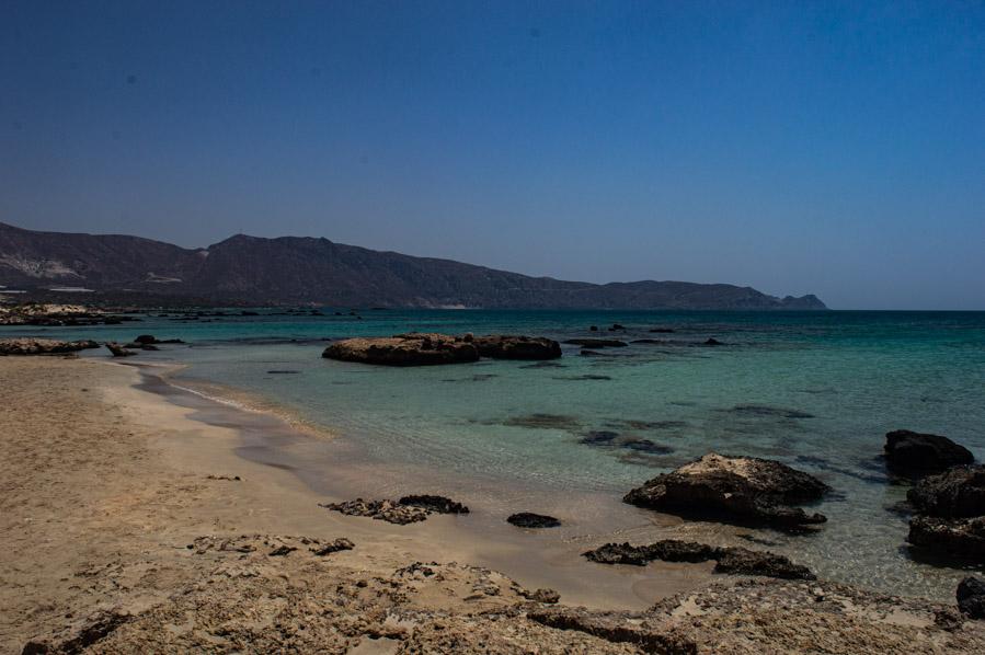 La playa de arena rosa de Elafonisi