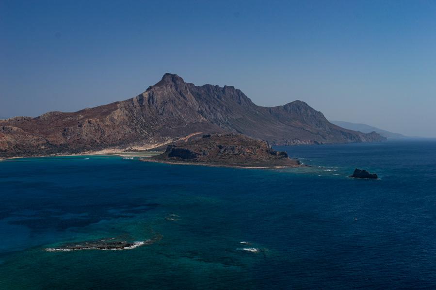 Vista de Balos, desde Gramvousa en Creta